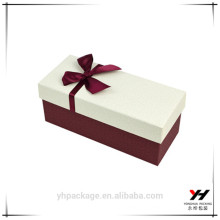 Custom high quality white textured paper luxury boxes wholesale